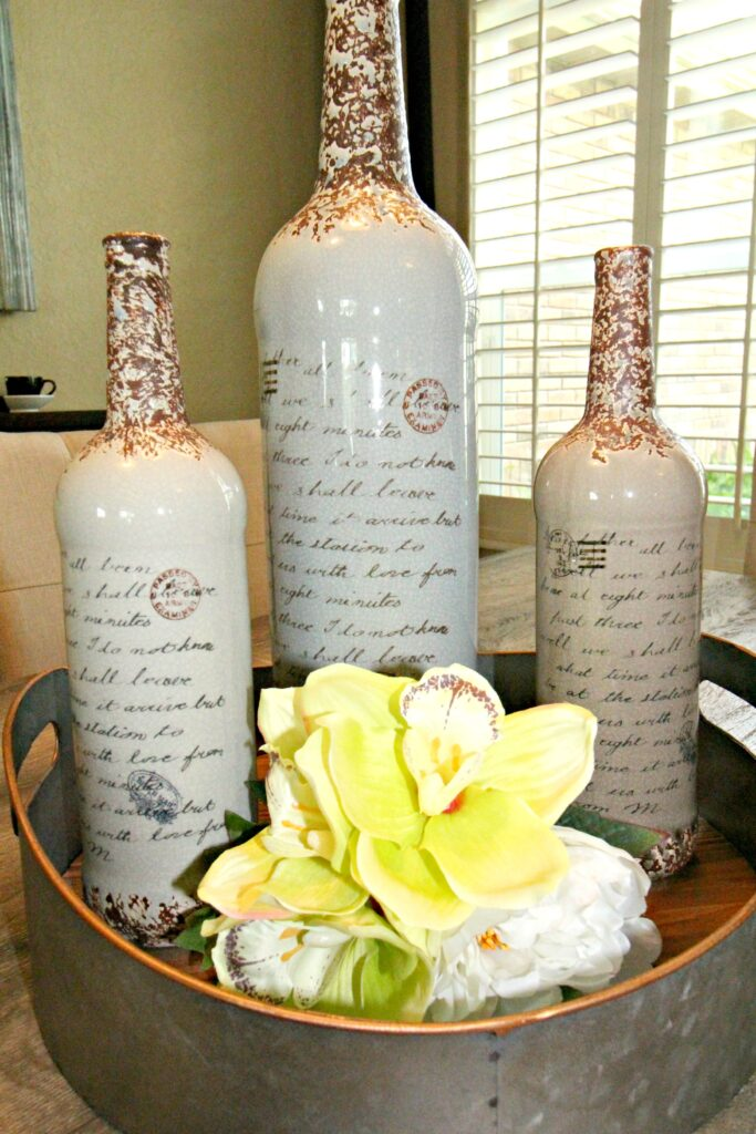 Bottles tablescape